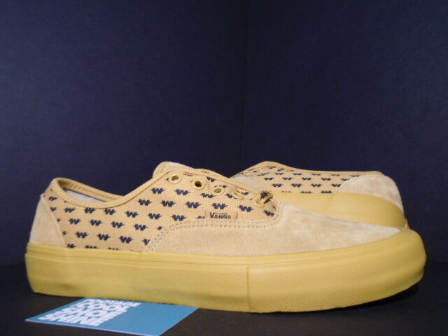 2015 VANS AUTHENTIC S WTAPS SYNDICATE YELLOW BLACK VN000EFPGWE SK8 NEW 9.5