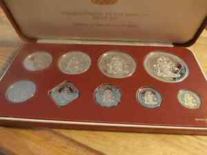 9 PC COMMONWEALTH OF THE BAHAMAS COIN SET Prince George British Columbia image 1