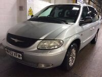 2002 CHRYSLER GRAND VOYAGER 2.5 DIESEL MANUAL CRD LIMITED MPV MOT EXCELLENT DRIVE NOT ZAFIRA GALAXY