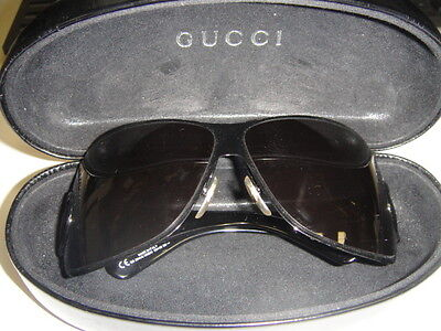 GUCCI Sunglasses 2814/S Made in Italy Black Frame & Lens w/ Hard Shell Case-SALE