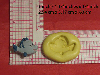Flounder Fish Silicone Mold #58 For Chocolate Candy Resin Fimo Soap Candle Craft 58 Chocolate Mold