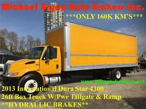 2013 INTERNATIONAL DURA STAR 26FT BOX TRUCK W/ TAILGATE + RAMP