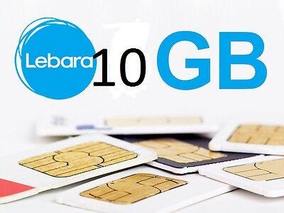 LEBARA 10 GB Internet Surfen im D1 Netz TOPANGEBOT