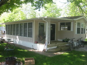 Cottage Alternative Lifestyle Orillia with large dock waterfront