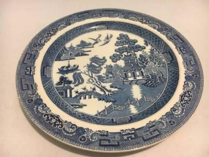 vintage wedgwood willow dinner plate