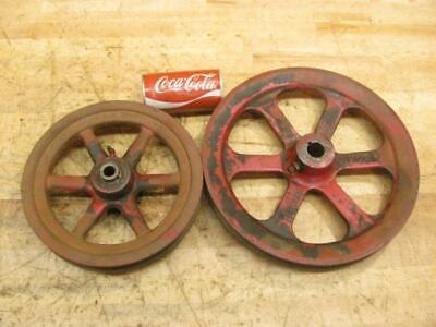Original Vintage 1951 New Holland 77 Square Hay Baler Set V Belt Pulley 10 13