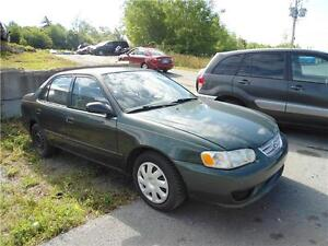 2002 Toyota Corolla, with 279000 km , as-is where is