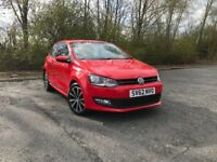 2012 VOLKSWAGEN POLO 1.4 MATCH RED PETROL GREAT RUN AROUND MUST SEE £5495 OLDMELDRUM