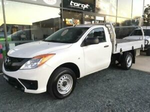 2014 Mazda BT-50 MY13 XT (4x2) White 6 Speed Manual Cab Chassis Tuncurry Great Lakes Area Preview