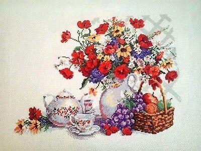Rto Garden Tea Party Counted Cross Stitch Kit