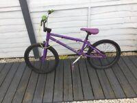 20 Inch BMX Purple Mongoose Stunt Bike
