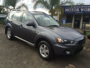 2010 Mitsubishi Outlander LS Grey 4 Speed Automatic Wagon Springwood Blue Mountains Preview