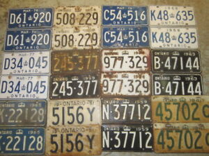 Garage Clean Out! * * Old Car License Plates * * * $45.00 PAIR