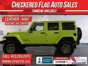 2012 Jeep WRANGLER UNLIMITED HEATED LEATHER-NAVI-LIFTED-35 IN TI