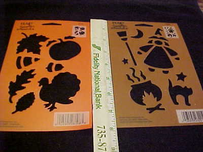 Halloween Stencil Cat Witch Broom by Plaid Simply Stencils Reusable Fall Stencil - Halloween Stencils Cat