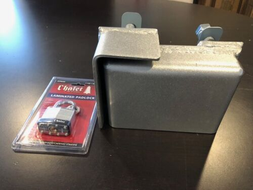 Heavy Duty Bolt on Shipping Container Security Lock Box With Pad Lock & Template