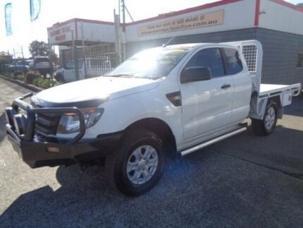 2013 Ford Ranger PX XL 3.2 (4x4) White 6 Speed Manual Super Cab Chassis Sandgate Newcastle Area Preview