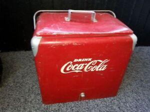 1950's large oversized Coca cola cooler    coke , 7up, pepsi