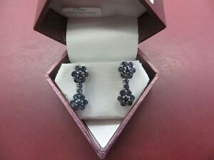 STERLING SILVER 32 SAPPHIRE (1.0CT) EARRINGS
