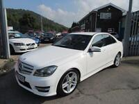 2012 62 MERCEDES-BENZ C CLASS 2.1 C200 CDI BLUEEFFICIENCY AMG SPORT 4D 135 BHP D