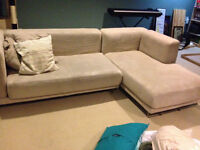 Modern IKEA Sectional with Chaise $500