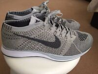 Nike Flyknit racer grey NEW unworn size 9.5 UK