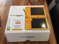 Nintendo DS XL boxed with 5 games