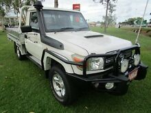 2010 Toyota Landcruiser VDJ79R MY10 GXL White 5 Speed Manual Cab Chassis Berrimah Darwin City Preview