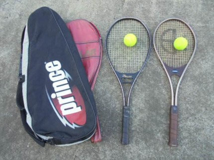 2 Tennis Racquets, Bags and Balls