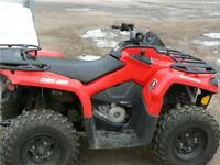 2015 CAN AM450 L WITH WINCH
