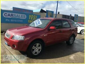 2007 Ford Territory SY Ghia (4x4) Red 6 Speed Auto Seq Sportshift Wagon Kogarah Rockdale Area Preview