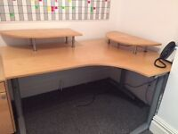2 x Ikea Galant Beech Corner Desks