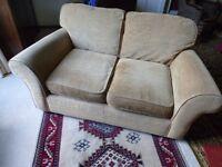 Gold/fawn coloured 2-Seat sofa