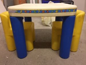 Kids dining/ play table with chairs