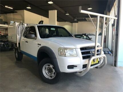 2008 Ford Ranger PJ XL Hi-Rider White Manual Utility Caringbah Sutherland Area Preview