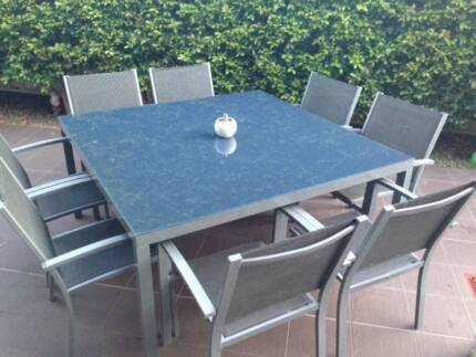9 PIECE OUTDOOR DINING SETTING Revesby Bankstown Area Preview