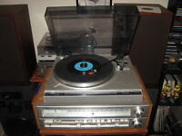 VINTAGE TOSHBIA SA-520 2 CHANNEL RECIEVER &TURNTABLE&SPEAKERS