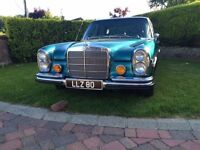Mercedes 280 SE, 46 year old beautiful example of classic car