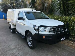 2015 Toyota Hilux GUN126R SR (4x4) White 6 Speed Manual Cab Chassis Bowen Hills Brisbane North East Preview