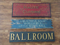 3 Decorative Wood Signs $10 each