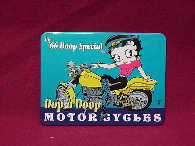 BETTY BOOP TIN SIGN THE 66 BOOP SPECIAL DESIGN