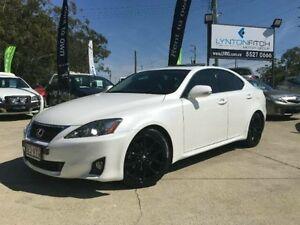 2012 Lexus IS250 GSE20R MY11 Prestige White Pearl 6 Speed Semi Auto Sedan Southport Gold Coast City Preview