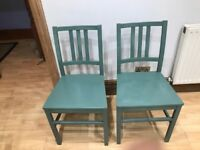 x4 Solid Wood Chairs - Shabby Chic