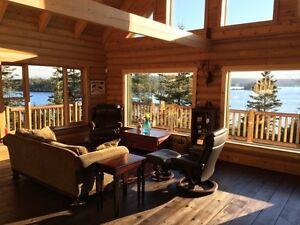 For Sale: Nova Scotia Oceanfront Executive Log Home