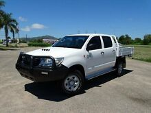 2012 Toyota Hilux KUN26R MY12 SR (4x4) White 5 Speed Manual Dual Cab Chassis Vincent Townsville City Preview