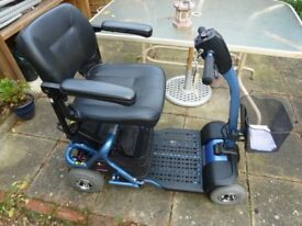 ELECTRIC LITEWAY 4 PLUS RASCAL BLUE MOBILITY SCOOTER.NEW BATTERIES + 2 BASKETS