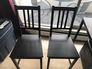 Black Dining Table & Storage Ottoman