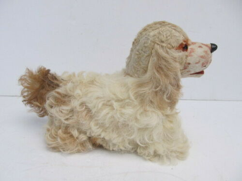 Antique Mohair Spaniel Dog Toy Glass Eyes Pre-1945 - German Steiff?