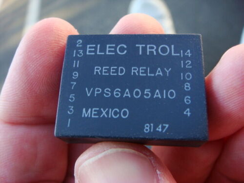 LOT of 20 ELECTROL 5V 6PST-NO REED RELAY