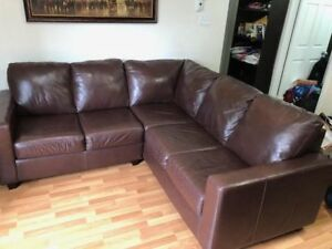 100% Genuine leather Sectional Sofa